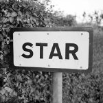 Road To A Star Black and White Card