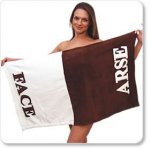 Arse and Face Novelty Funny Towel